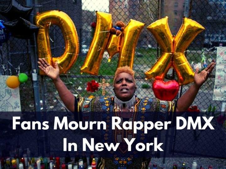 fans mourn rapper dmx in new york n.