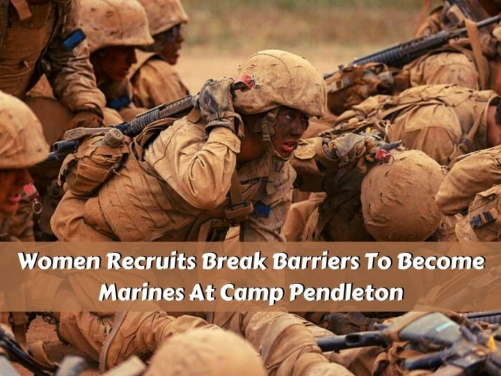 women recruits break barriers to become marines at camp pendleton n.