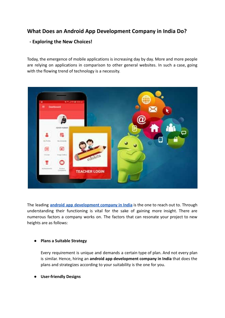 What Does an Android App Development Company in India Do