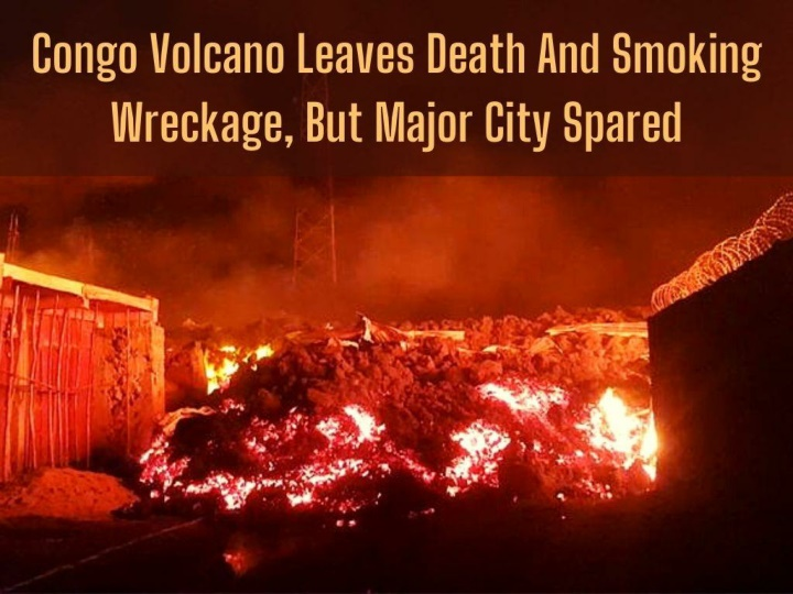 congo volcano leaves death and smoking wreckage but major city spared n.