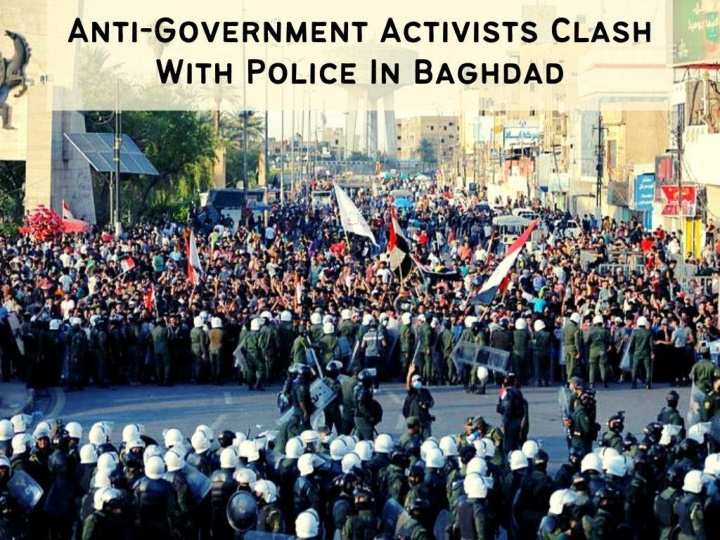 anti government activists clash with police in baghdad n.