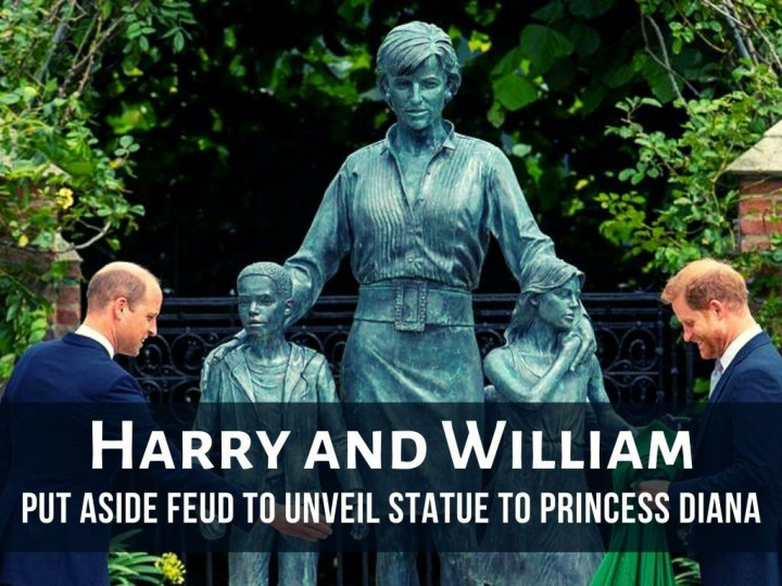 harry and william put aside feud to unveil statue to princess diana n.
