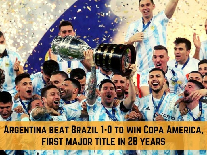 argentina beat brazil 1 0 to win copa america first major title in 28 years n.