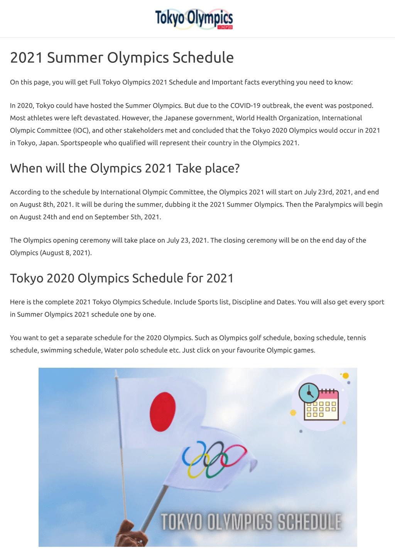 PPT - Tokyo Summer Olympics 2021 Schedule PowerPoint ...