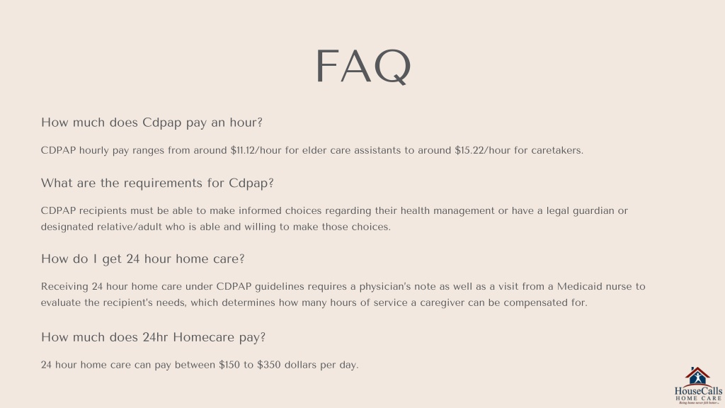 PPT - CDPAP Program by HouseCalls Home Care PowerPoint ...