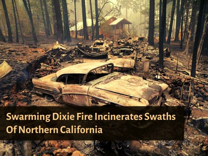 swarming dixie fire incinerates swaths of northern california n.