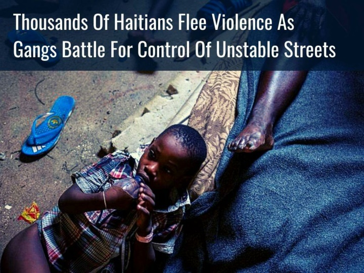 thousands of haitians flee violence as gangs battle for control of unstable streets n.