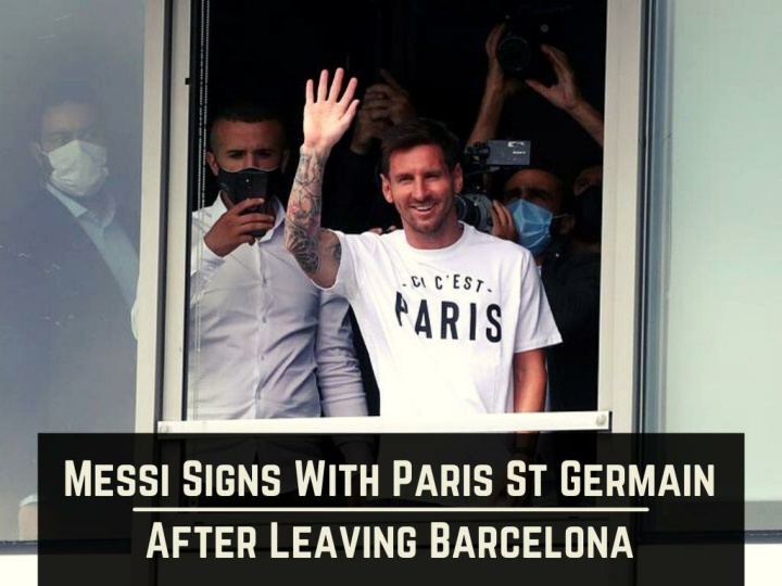 messi signs with paris st germain after leaving barcelona n.