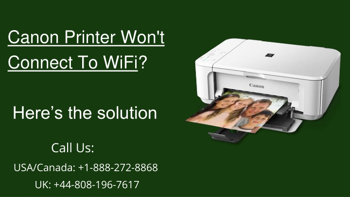 Simple Way To Fix Canon Printer Won't Connect To Wifi Error
