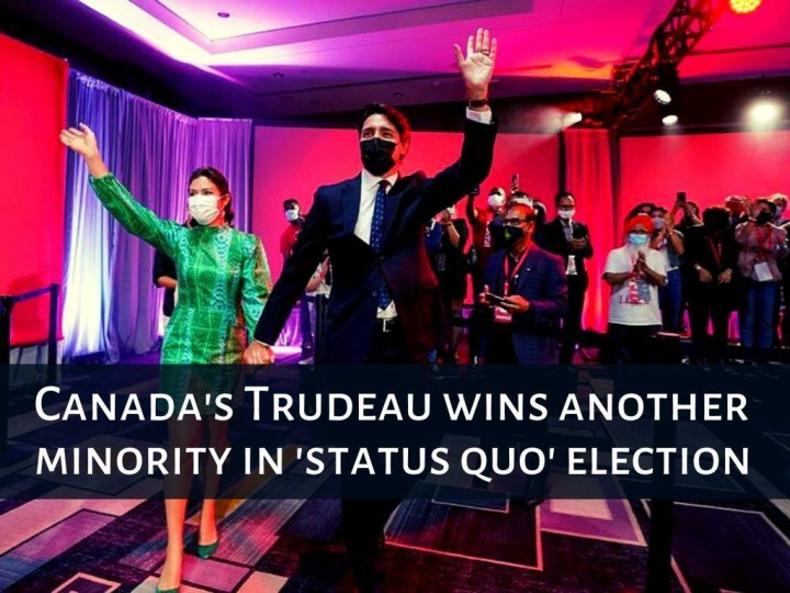 canada s trudeau wins another minority in status quo election n.