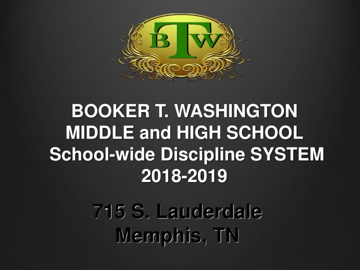 booker t washington middle and high school school wide discipline system 2018 2019 n.