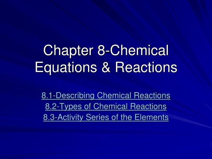 chapter 8 chemical equations reactions n.
