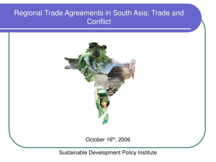 regional trade agreements in south asia trade n.