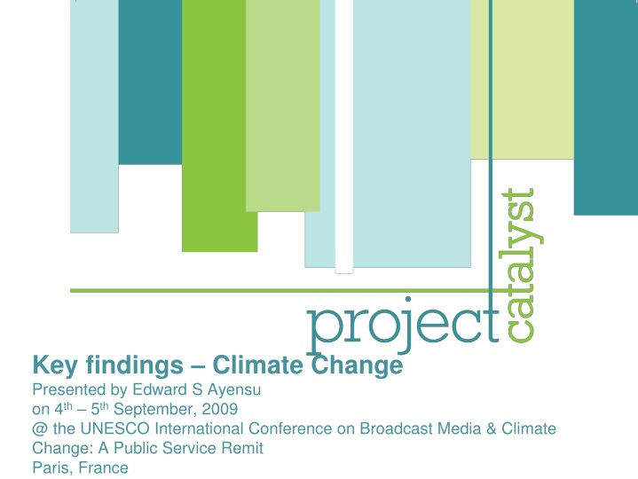 key findings climate change presented by edward n.