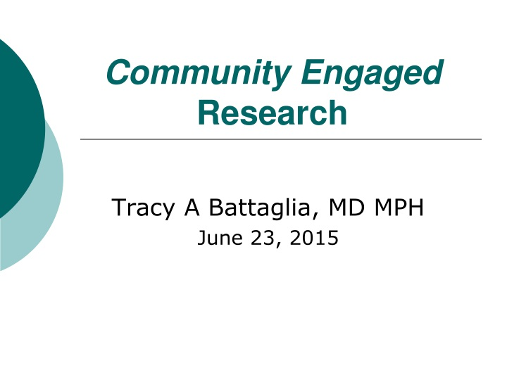 community engaged research n.