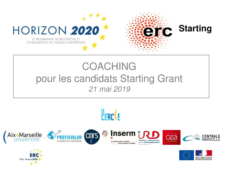 coaching pour les candidats starting grant n.