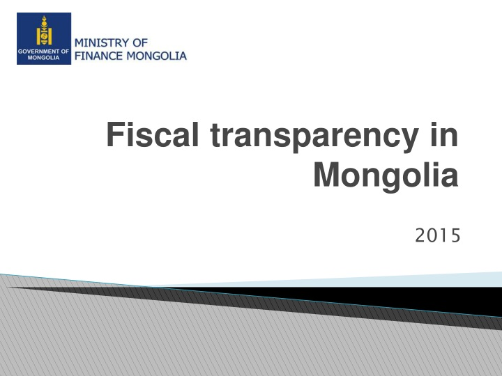 fiscal transparency in mongolia n.