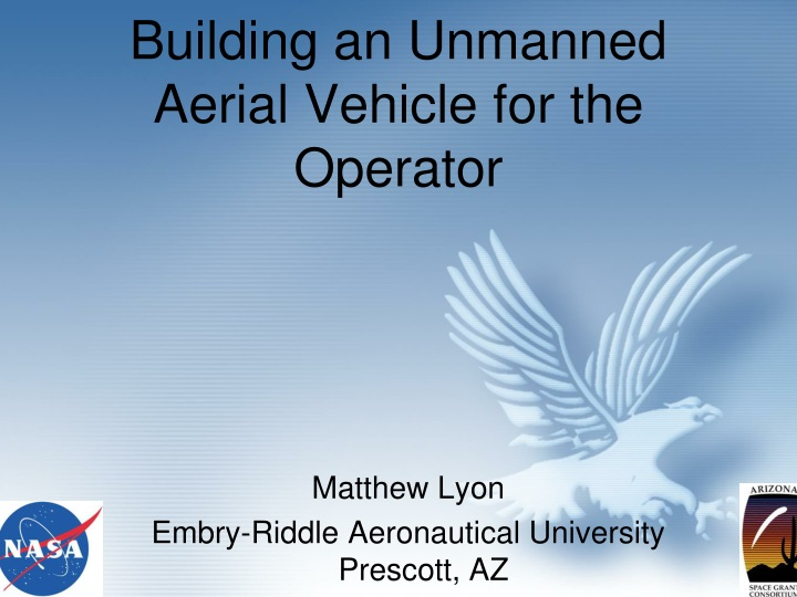 building an unmanned aerial vehicle for the operator n.