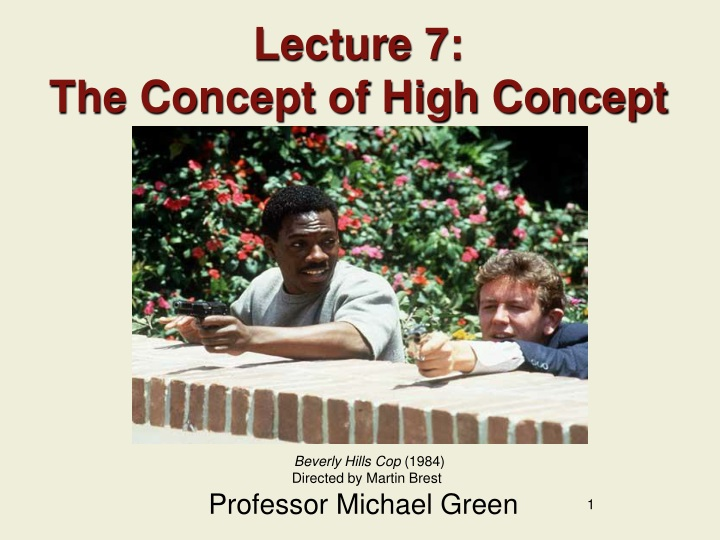 lecture 7 the concept of high concept n.