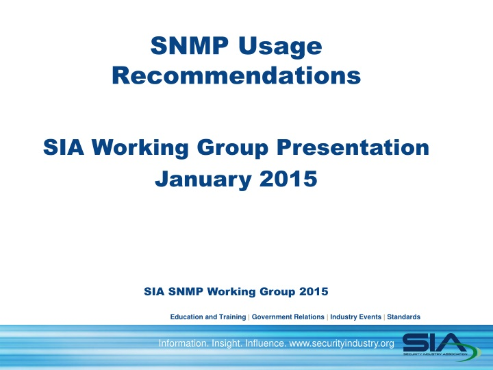 snmp usage recommendations n.