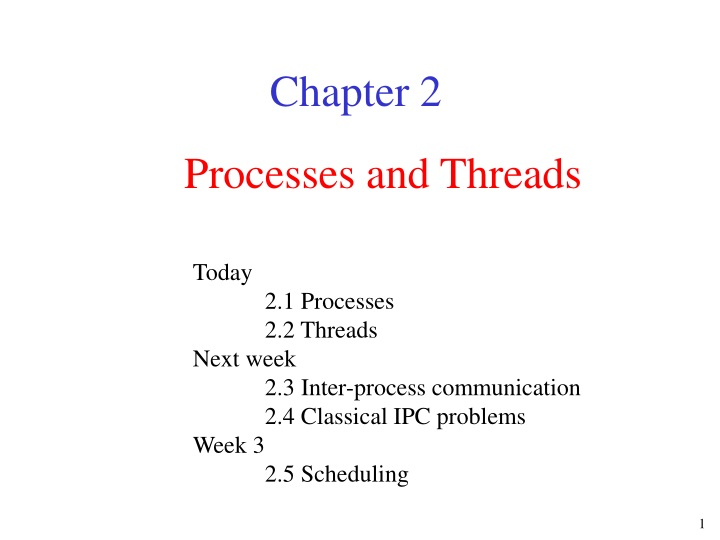 processes and threads n.