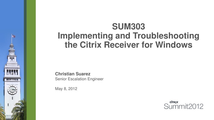 sum303 implementing and troubleshooting the citrix receiver for windows n.