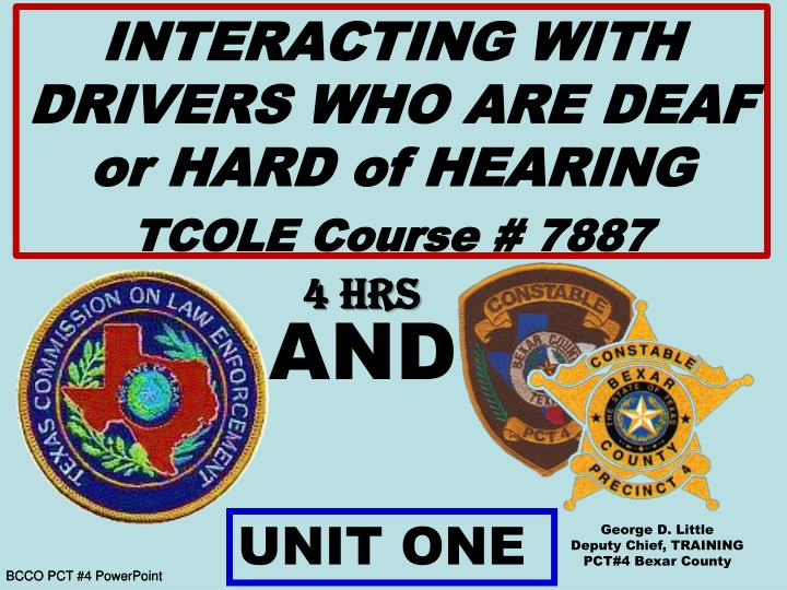 interacting with drivers who are deaf or hard n.