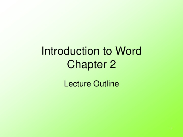 introduction to word chapter 2 n.