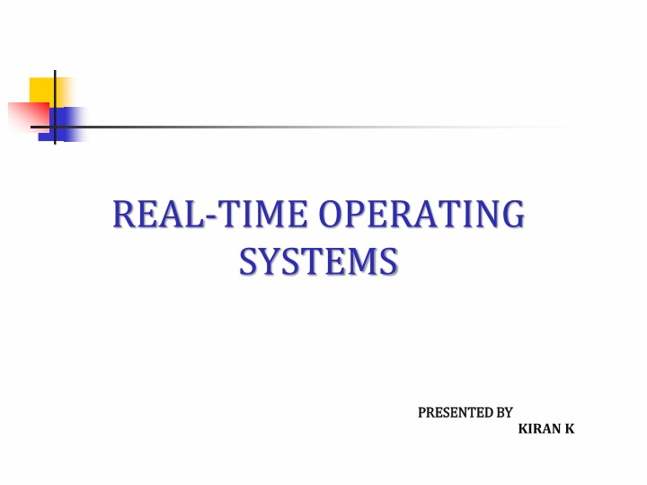 real time operating systems n.