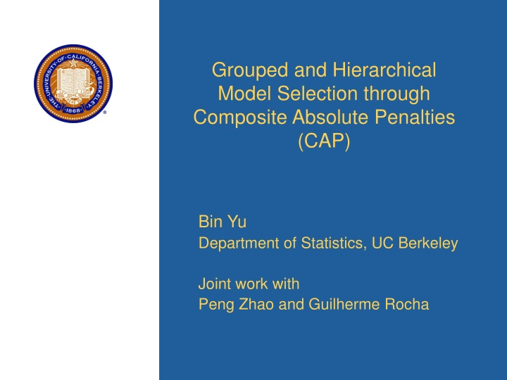grouped and hierarchical model selection through composite absolute penalties cap n.