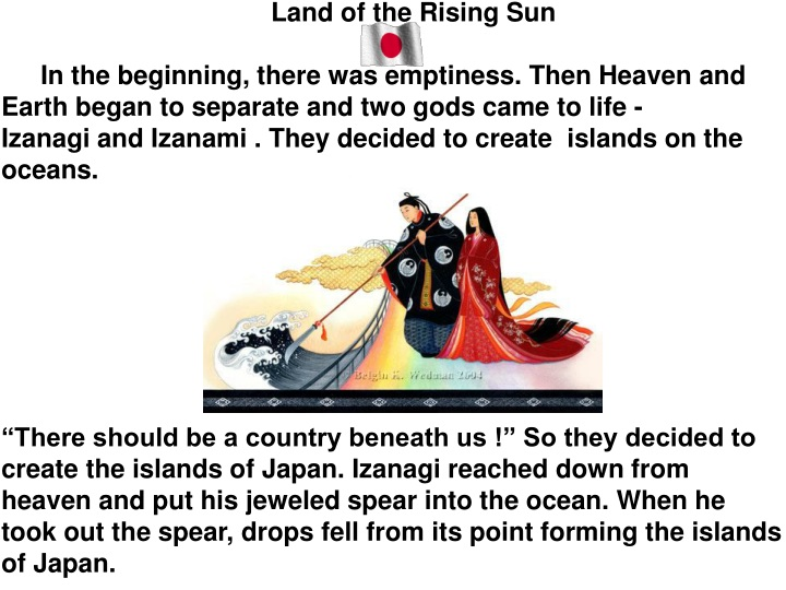 land of the rising sun in the beginning there n.
