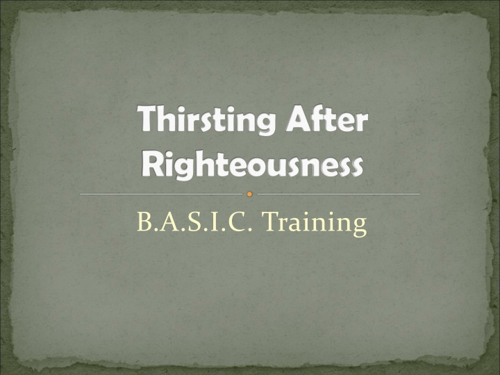 thirsting after righteousness n.