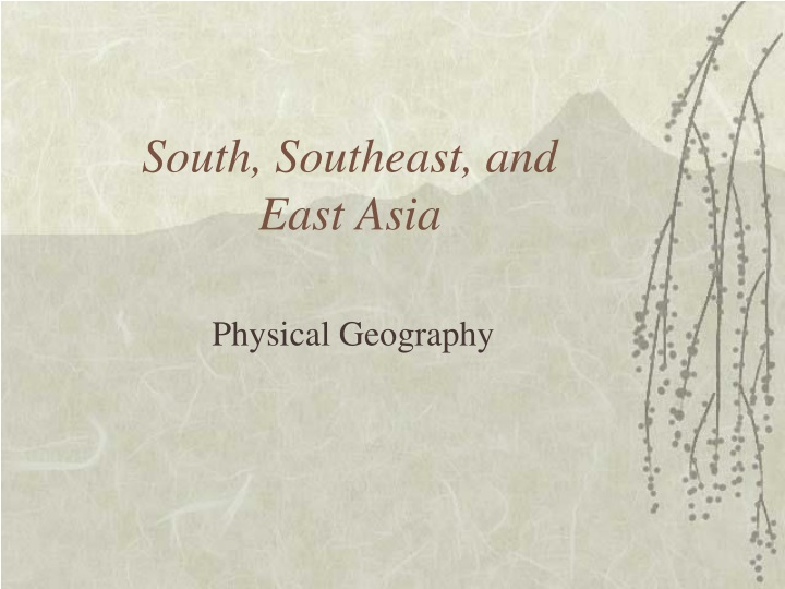 south southeast and east asia n.