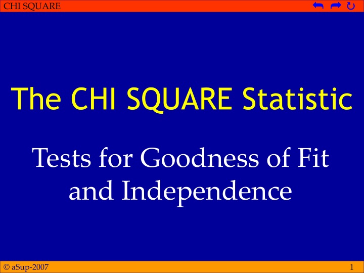 the chi square statistic n.