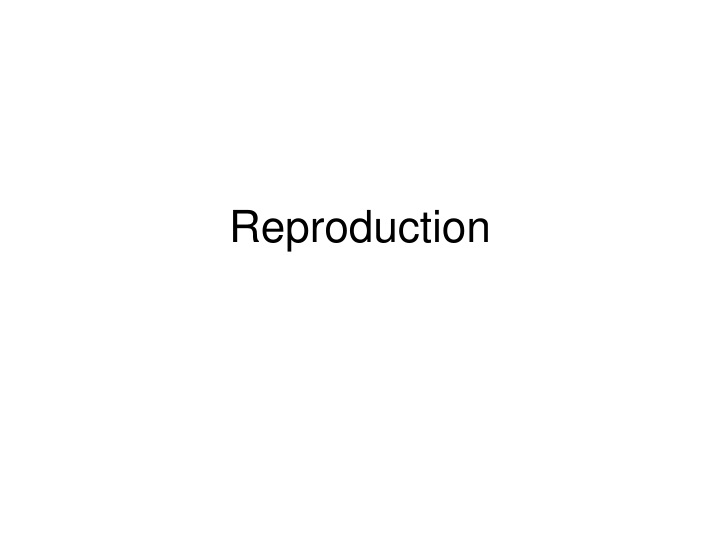 reproduction n.