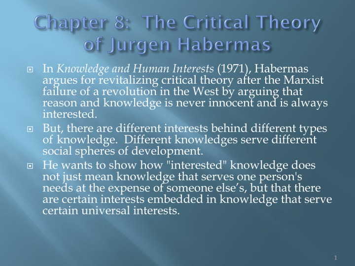 chapter 8 the critical theory of jurgen habermas n.