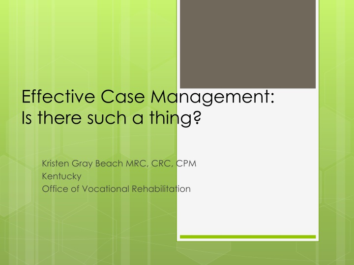 effective case management is there such a thing n.
