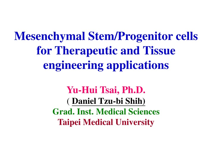 mesenchymal stem progenitor cells for therapeutic n.