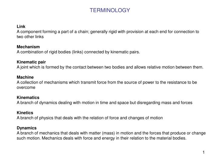 terminology n.