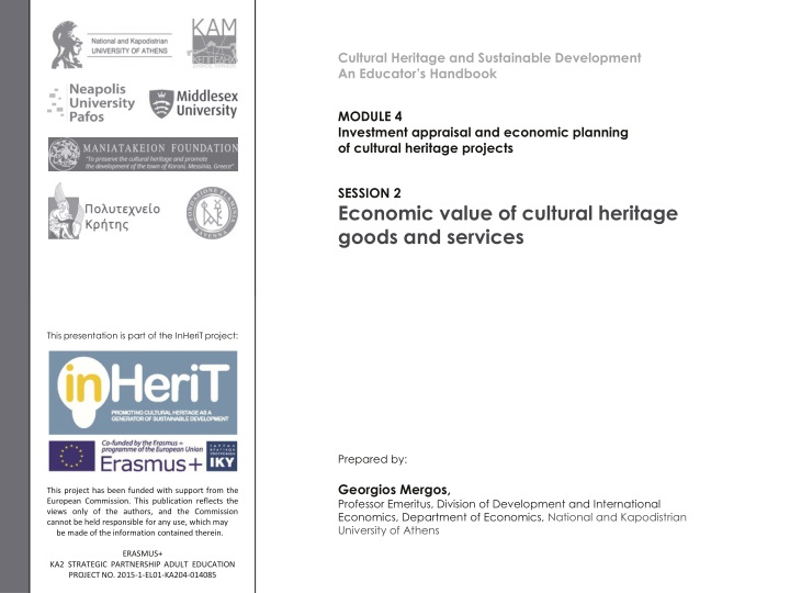cultural heritage and sustainable development n.