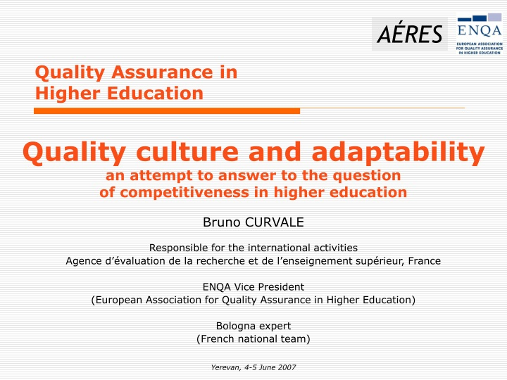 quality assurance in higher education n.