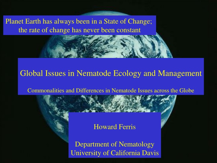 planet earth has always been in a state of change n.