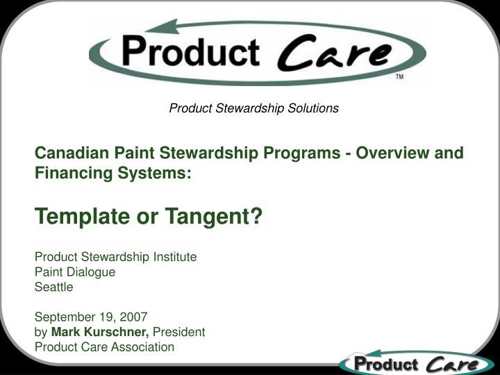 canadian paint stewardship programs overview n.