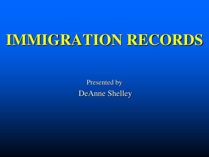 immigration records n.