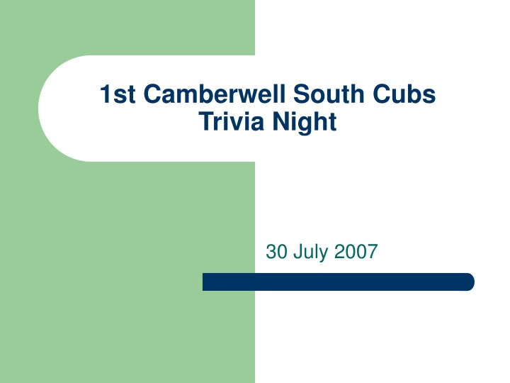 1st camberwell south cubs trivia night n.
