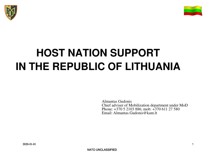 host nation support in the republic of lithuania n.