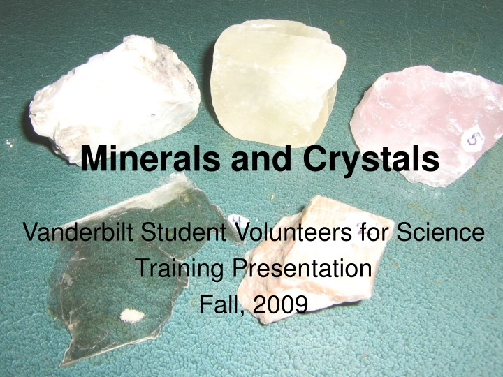 minerals and crystals n.