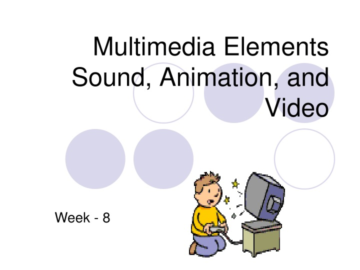 multimedia elements sound animation and video n.