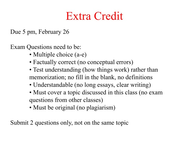 extra credit n.