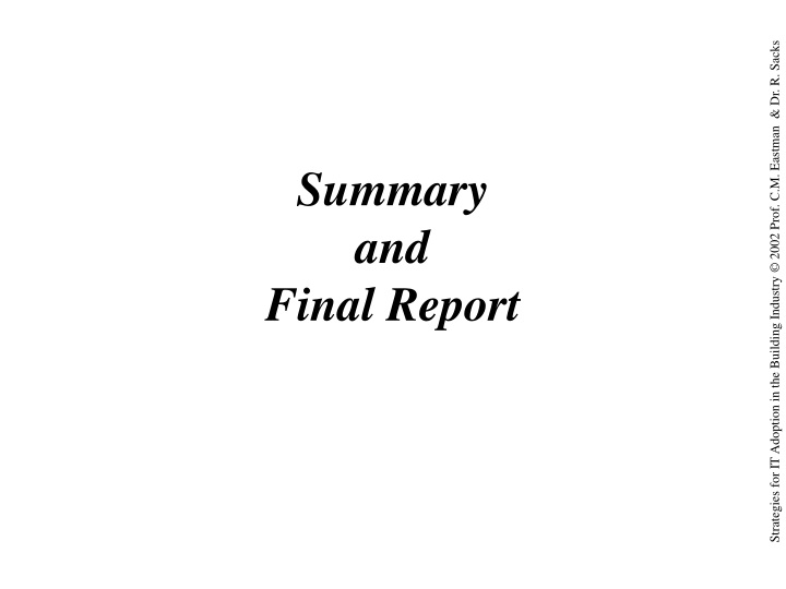 summary and final report n.